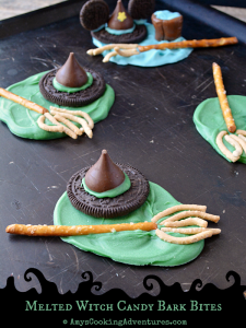 Melted Witch Candy Bark Bites