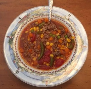 Popeye Hamburger Soup