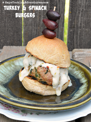 Turkey & Spinach Burgers